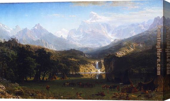Albert Bierstadt The Rocky Mountains, Landers Peak Stretched Canvas Painting