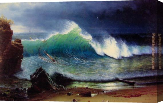 Albert Bierstadt The Shore of the Turquoise Sea Stretched Canvas Painting