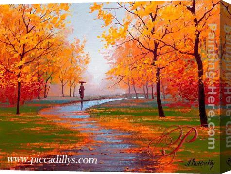 Alexei Butirskiy Autumn Scene Stretched Canvas Painting