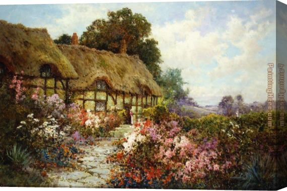 Alfred de Breanski Ann Hathaway's Cottage Stretched Canvas Painting
