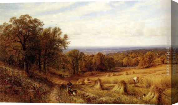 Alfred Glendening Harvest Time Stretched Canvas Painting