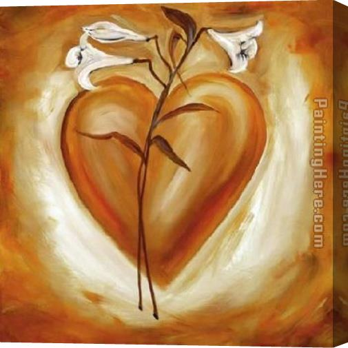 Alfred Gockel Shades of Love - Orange Stretched Canvas Painting