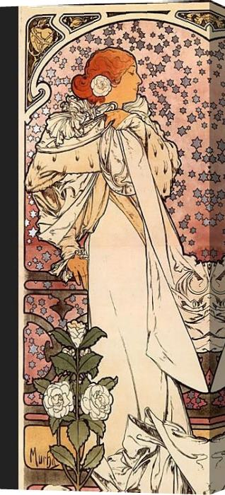 Alphonse Maria Mucha s Stretched Canvas Painting