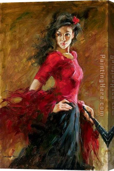 Andrew Atroshenko The Fan Dancer Stretched Canvas Painting