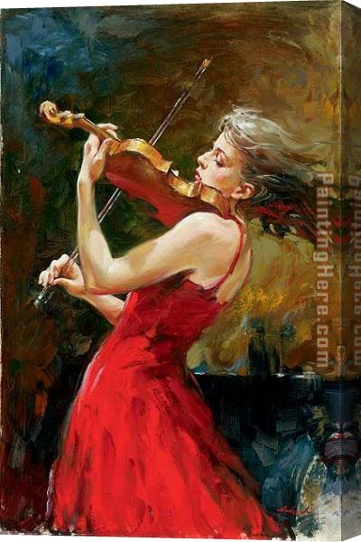 Andrew Atroshenko The Passion of Music Stretched Canvas Painting