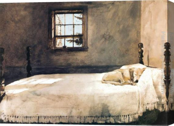 Andrew Wyeth Dog On Bed Original