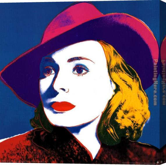 Andy Warhol Ingrid with Hat Stretched Canvas Painting