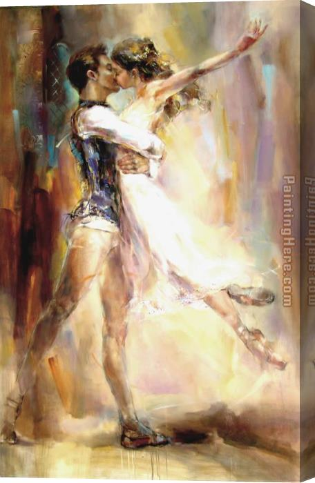 Anna Razumovskaya Love Story 2 Stretched Canvas Painting