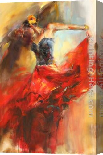 Anna Razumovskaya She Dances In Beauty 1 Stretched Canvas Painting