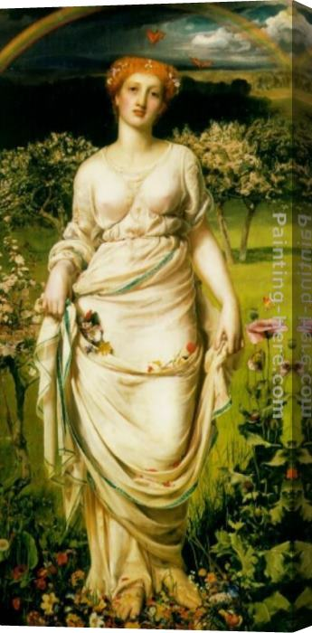 Anthony Frederick Sandys Gentle Spring Stretched Canvas Painting