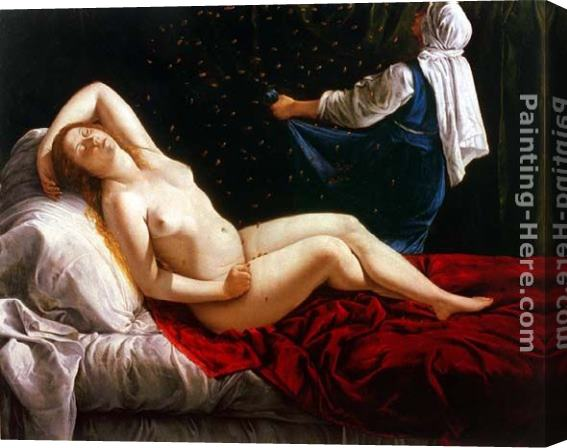 Artemisia Gentileschi Danae Stretched Canvas Painting