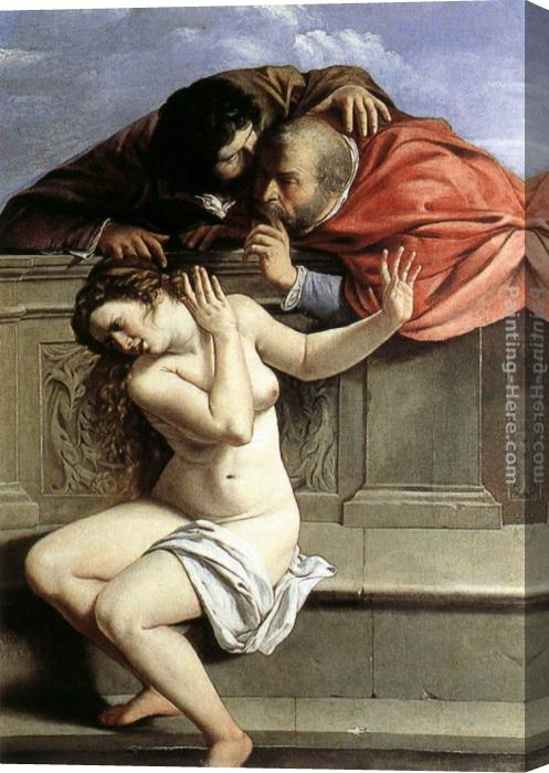 Artemisia Gentileschi Susanna and the Elders Stretched Canvas Painting