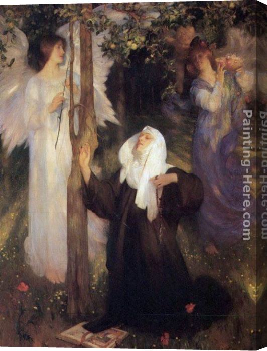 Arthur Hacker The Cloister or the World Stretched Canvas Painting