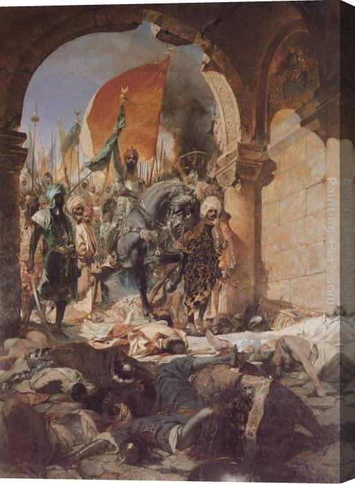 Benjamin Jean Joseph Constant The Entry of Mahomet II into Constantinople Stretched Canvas Painting