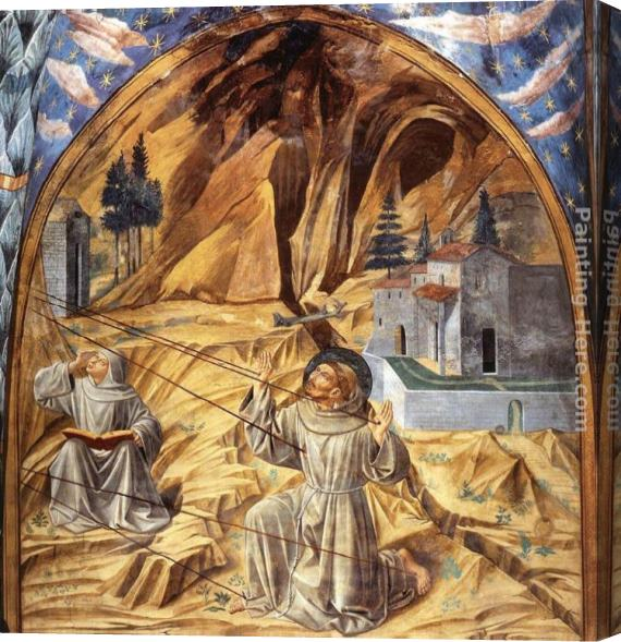 Benozzo di Lese di Sandro Gozzoli Scenes from the Life of St Francis (Scene 11, south wall) Stretched Canvas Painting