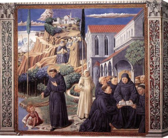 Benozzo di Lese di Sandro Gozzoli Scenes from the Life of St Francis (Scene 12, south wall) Stretched Canvas Painting
