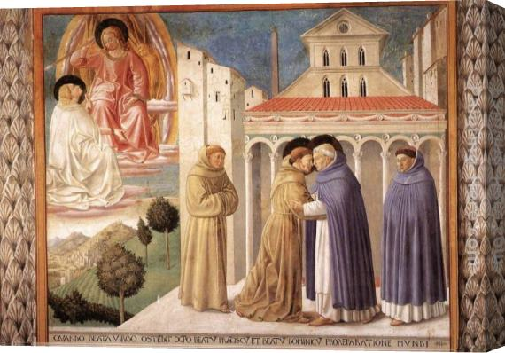 Benozzo di Lese di Sandro Gozzoli Scenes from the Life of St Francis (Scene 4, south wall) Stretched Canvas Painting