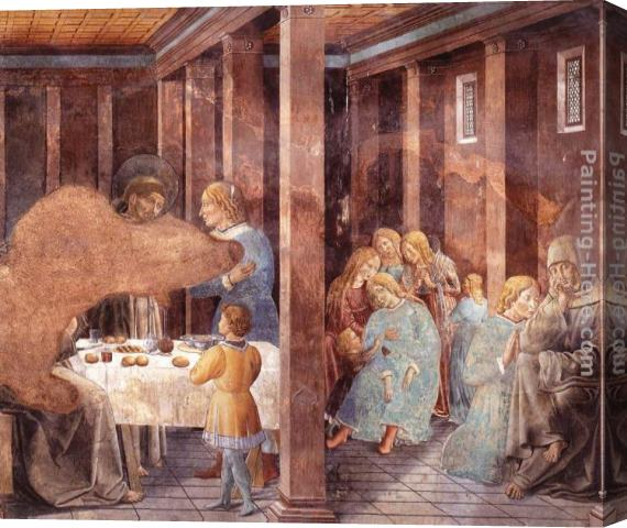 Benozzo di Lese di Sandro Gozzoli Scenes from the Life of St Francis (Scene 8, south wall) Stretched Canvas Painting