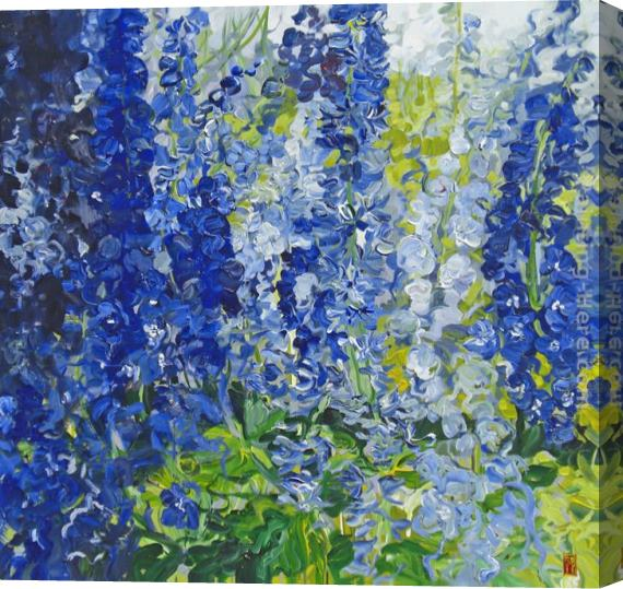Bobbie Burgers A Deep Quieting Blue Stretched Canvas Painting