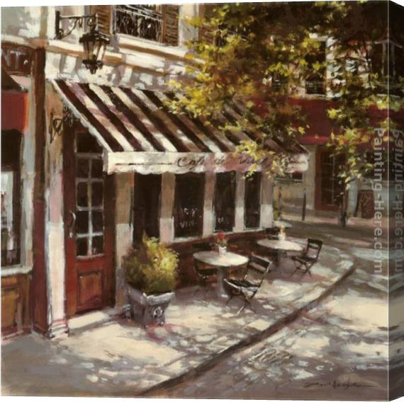 Brent Heighton Wine Cafe Stretched Canvas Painting