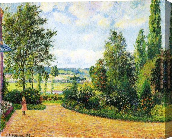 Camille Pissarro Jardin Mirbeau aux Damps Stretched Canvas Painting