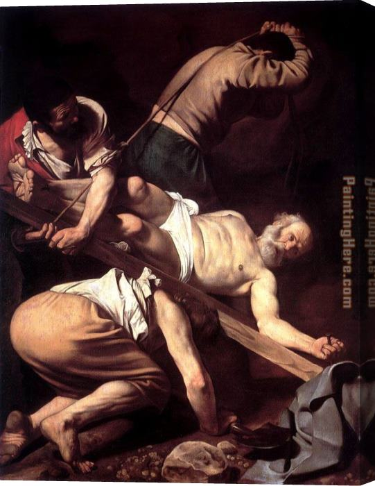 Caravaggio The Crucifixion of Saint Peter Stretched Canvas Painting
