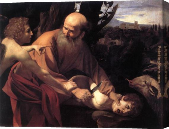 Caravaggio The Sacrifice of Isaac Stretched Canvas Painting
