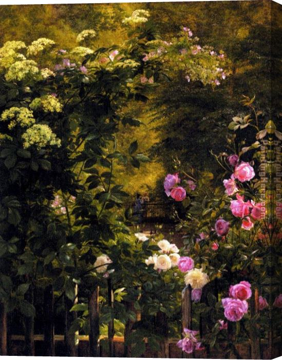 Carl Fredrik Aagard The Rose Garden Stretched Canvas Painting