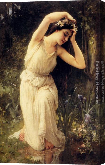 Charles Amable Lenoir A Nymph In The Forest Stretched Canvas Painting