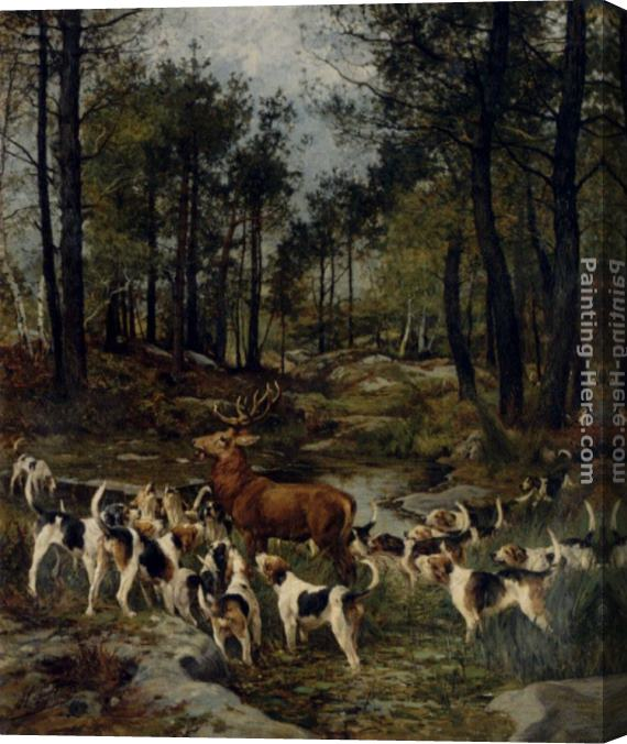 Charles Olivier De Penne The Deer Hunt Stretched Canvas Painting