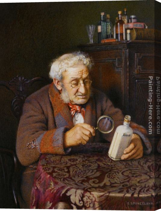Charles Spencelayh A Touch of Rheumatism Stretched Canvas Painting