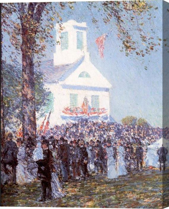 childe hassam County Fair New England Stretched Canvas Painting