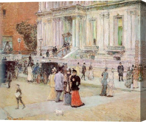 childe hassam The Manhattan Club Stretched Canvas Painting