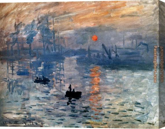 Claude Monet Impression Sunrise Stretched Canvas Painting
