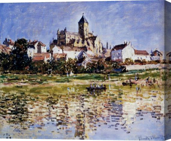 Claude Monet The Church At Vetheuil Stretched Canvas Painting