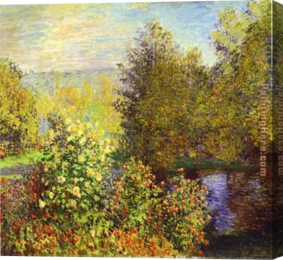 Claude Monet The Corner of the Garden at Montgeron Stretched Canvas Painting