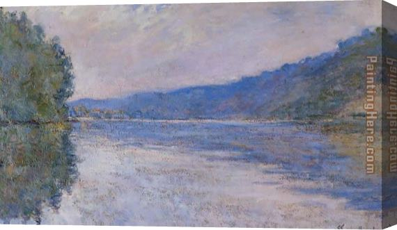 Claude Monet The Seine at Port Villez Stretched Canvas Painting