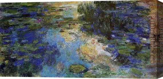 Claude Monet The Water-Lily Pond 6 Stretched Canvas Painting