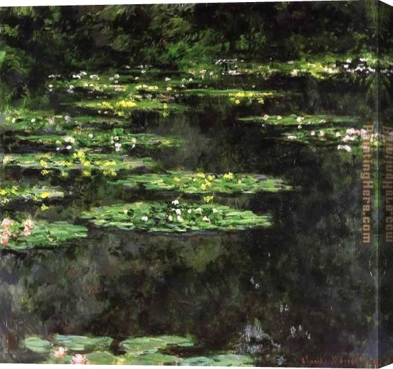 Claude Monet Water-Lilies 04 Stretched Canvas Painting