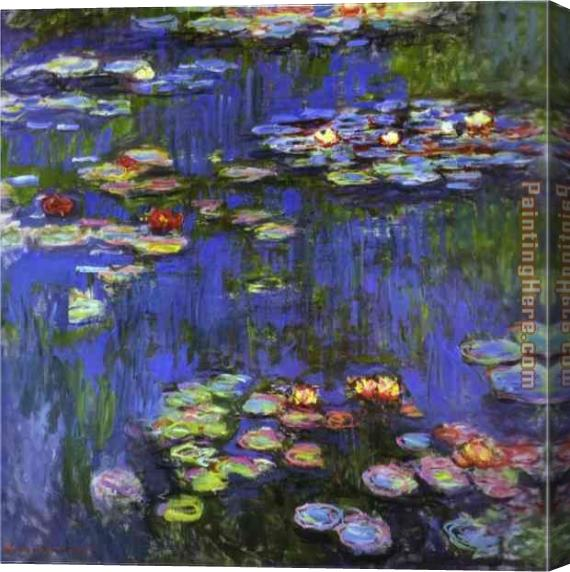Claude Monet Water-Lilies 1914 Stretched Canvas Painting