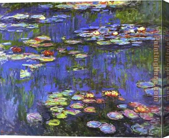 Claude Monet Water Lilies 1914 Stretched Canvas Painting
