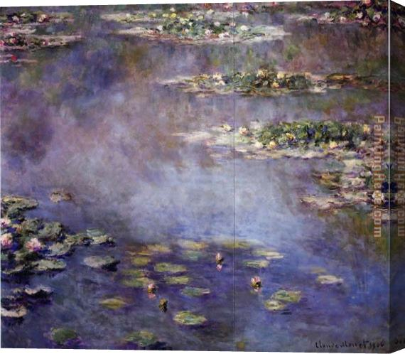 Claude Monet Water-Lilies 24 Stretched Canvas Painting