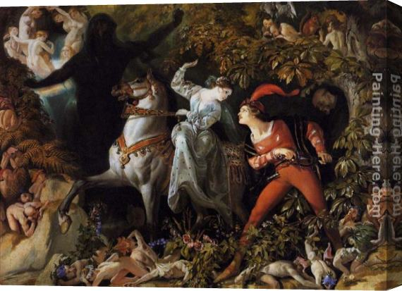 Daniel Maclise A Scene from 'Undine' Stretched Canvas Painting