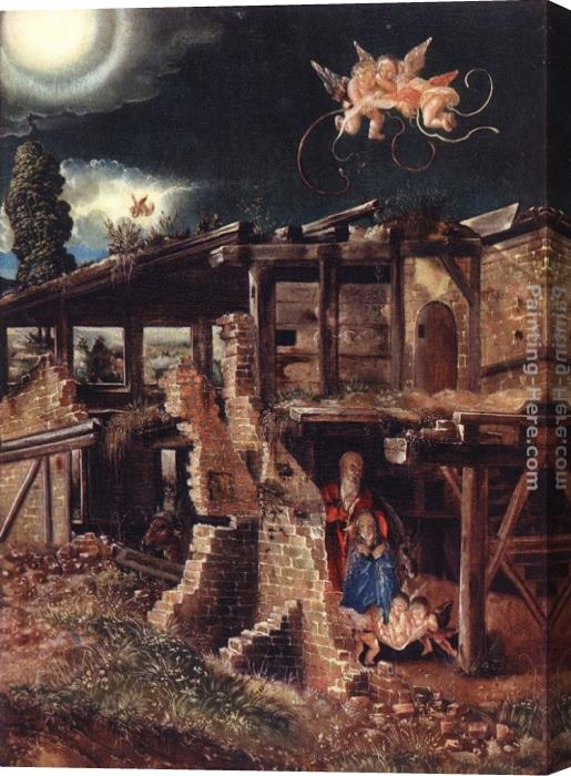 Denys van Alsloot Nativity Stretched Canvas Painting