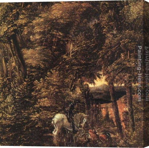 Denys van Alsloot Saint George In The Forest Stretched Canvas Painting