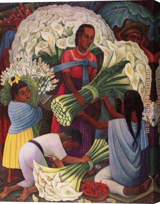 Diego Rivera Mercado De Flores The Flower Vendor