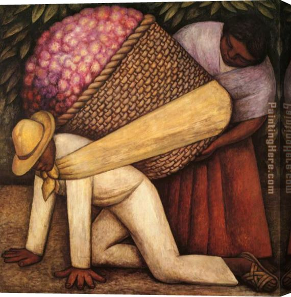 Diego Rivera The Flower Carrier Stretched Canvas Painting