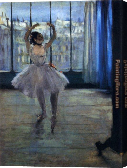 Edgar Degas Dancer At The Photographer's Studio Stretched Canvas Painting