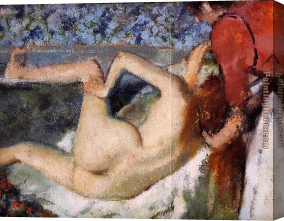 Edgar Degas The Bath II Stretched Canvas Painting