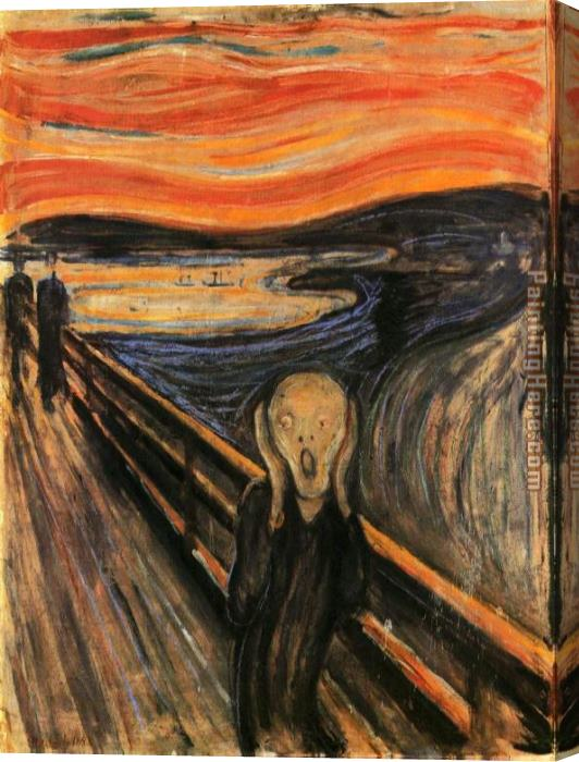 Edvard Munch The Scream Stretched Canvas Painting